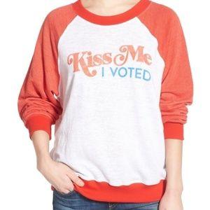 Wildfox Kiss Me I Voted Sweatshirt Size S